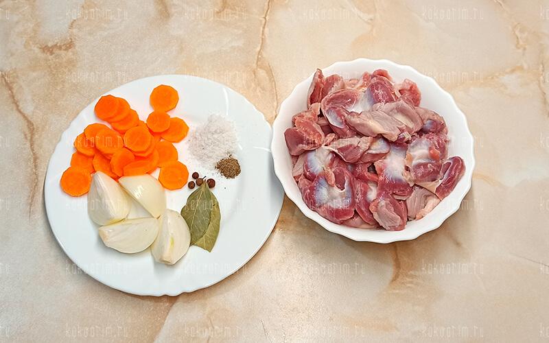 Фото 6 как варить куриные желудки