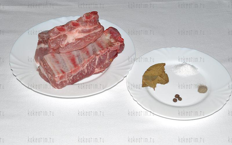 Фото 3 как варить свиные ребра