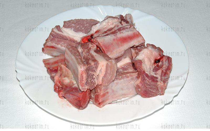 Фото 4 как варить свиные ребра