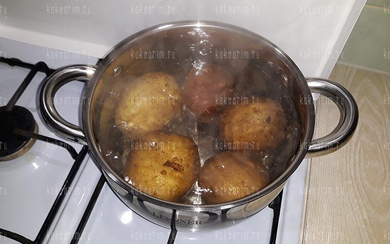 Фото 6 как варить картошку в мундире