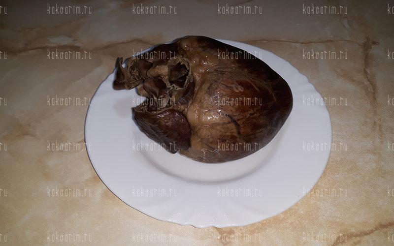 Фото 9 как варить свиное сердце
