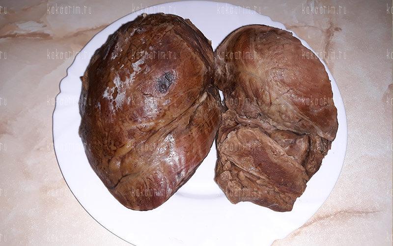 Фото 13 как варить говяжье сердце